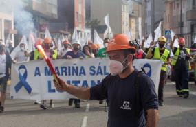 ep trabajadores de alcoa se manifiestan para defender el futuro de la fabrica de aluminio en san