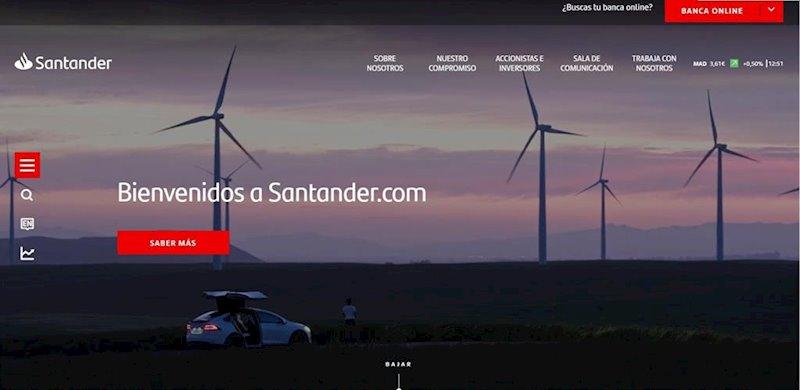 ep nueva pagina web corporativa de banco santander