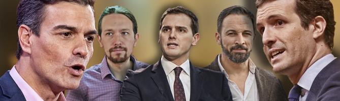 elecciones generales candidatos sanchez iglesias rivera abascal casado portada