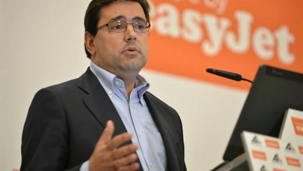 El director general de EasyJet para España, Portugal y Países Bajos,  Javier Gándara  y Vicepresidente de ALassp en Tribuna Fórum Canarias