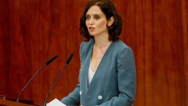 ep la candidatappla presidenciala comunidad isabel diaz ayuso duranteintervencionla primera sesionsegundo plenosu investidura