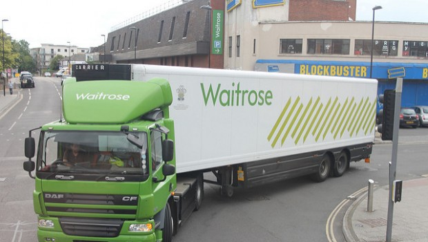 waitrose john lewis lorry green