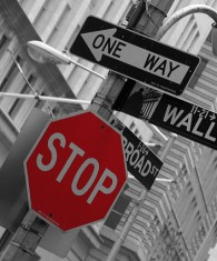 Wall street america US USA signs
