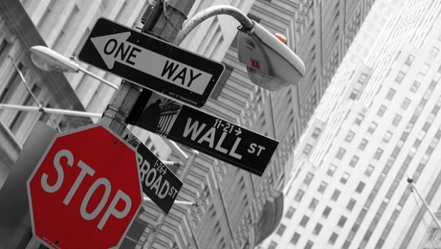 Wall street america US USA signs