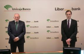 ep archivo - manuel azuaga unicaja y manuel menendez liberbank