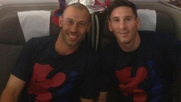 Messi Mascherano Barcelona