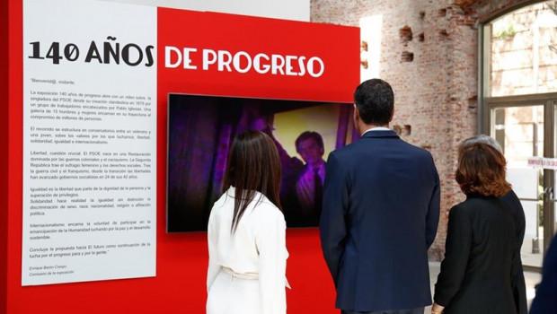 ep inauguracionmadridla exposicion 140 anosprogreso conquepsoe celebra140 anoshistoria