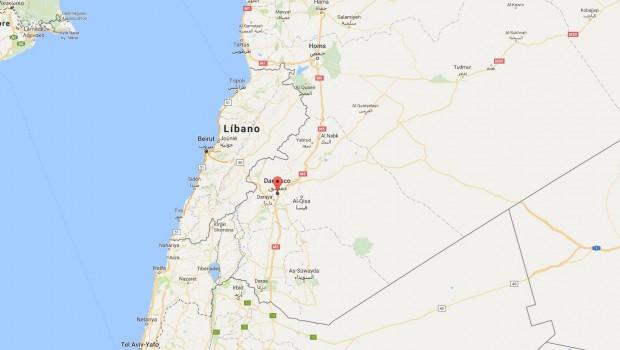 damasco siria ubicacion google maps