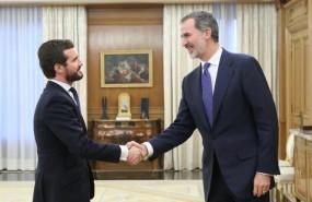 ep el rey se reune con el lider del pp pablo casado en el palacio de la zarzuela dentro de la ronda