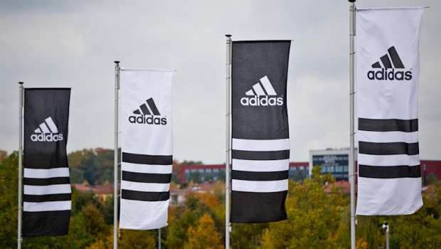 ep filed - 15 october 2013 bavaria herzogenaurach flags with the logos of the sporting goods