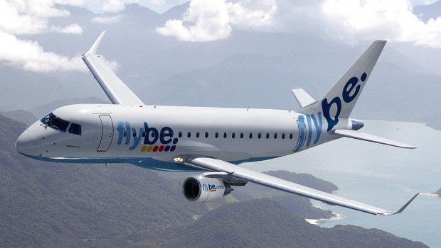 Flybe Embraer E175 aircraft, transport, air travel