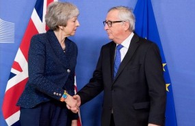 theresa may juncker brexit