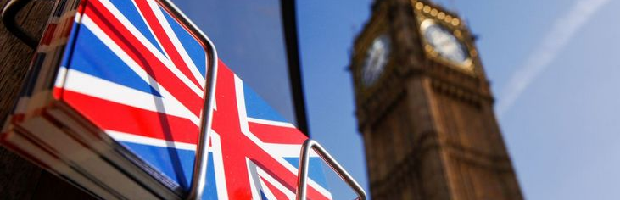 reino unido portada bolsa bandera reloj