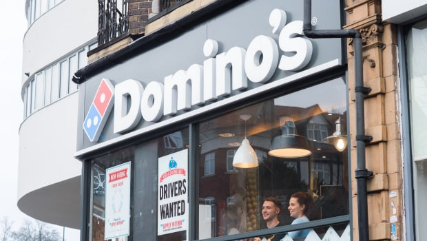 dl dominos pizza group takeaway pizza restaurant logo ftse 250 min