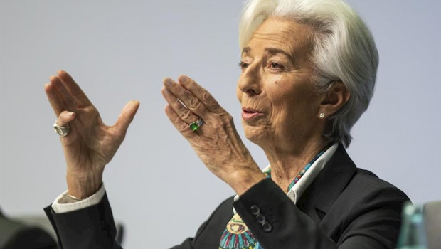 ep main president of the european central bank ecb christine lagarde speaks during her first press
