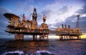BP oil rig offshore Azerbaijan; oil & gas