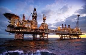 BP oil rig offshore Azerbaijan; oil & gas