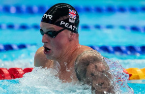 ep 21 july 2019 south korea gwangju british swimmer adam peaty competes in the mens 100 meters chest during the gwangju 2019 fina world championships photo bernd thissendpa